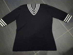 dolores Sweater met korte mouwen zwart-wit