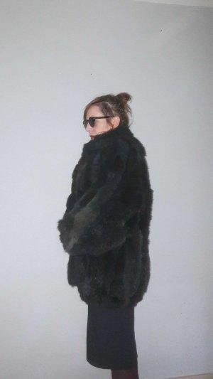 Hochwertiger Fake Fur Ovesize Felljacke Vintage 80er 90er