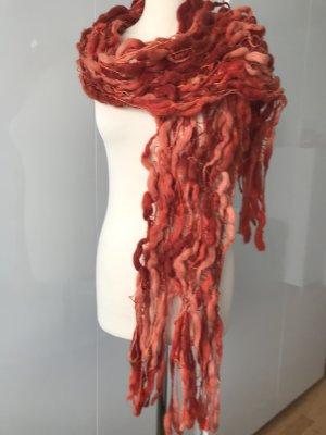 Hochwertiger grober Woll-Schal, orange