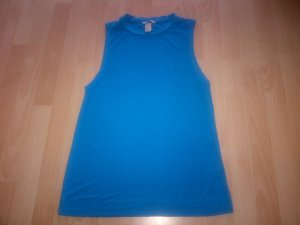 H&M Top lungo blu acciaio Viscosa