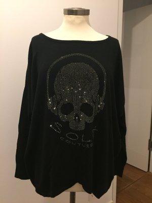 Pullover in cashmere nero-argento