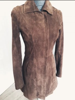 Reserved Cappotto in pelle marrone-cognac