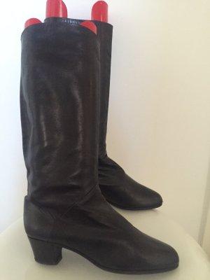 Hochwertiger Lederstiefel schwarz
