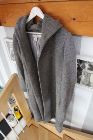 Hochwertiger LOGG Mantel in grau Größe 36 38 oversized Kapuze Gürtel