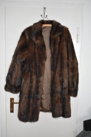 Pelt Coat cognac-coloured-brown fur