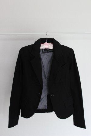 Hochwertiger Pepe Jeans Blazer mit Print und süßen Details in der Farbe Schwarz