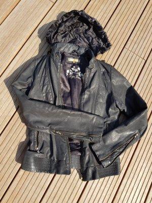 Hochwertiger  Pepe Jeans Lederjacke in Biker-Style