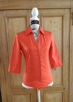 Hallhuber Bodysuit Blouse salmon mixture fibre