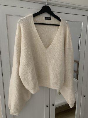 Jersey de lana blanco puro