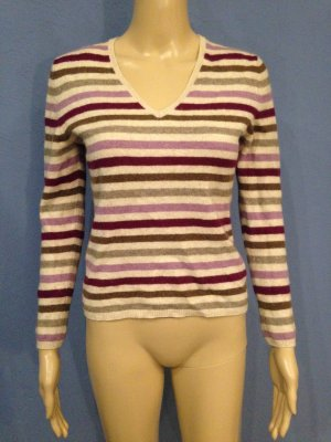 Adagio Jersey blanco puro-violeta amarronado lana merina
