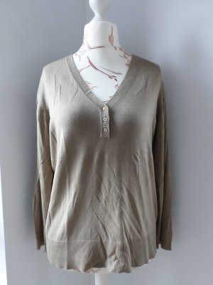 Lecomte V-Neck Sweater camel viscose