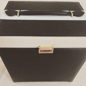 Suitcase multicolored imitation leather