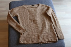 Hochwertiger Strick Pullover in Camel-farben von Massimo Dutti