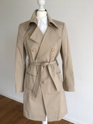 Drykorn Trench Coat beige-oatmeal cotton