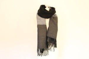hochwertiger XXL Schal in schwarz grau