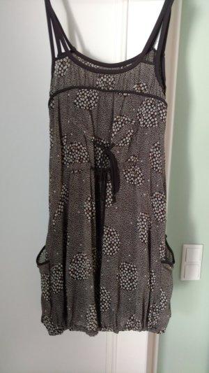 Hochwertiges 3-teiliges Set mit Kleid, Leggings, Shirt von Cassiopée,  Gr M (38/40) braun