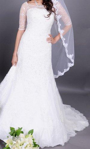 Hochwertiges Brautkleid (UVP 1700 EUR), wie neu, Elfenbein, S~M