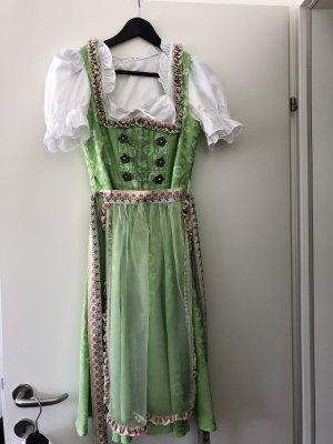 Robe à corsage blanc-vert clair