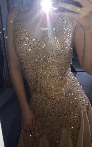 hochwertiges, goldenes Abendkleid