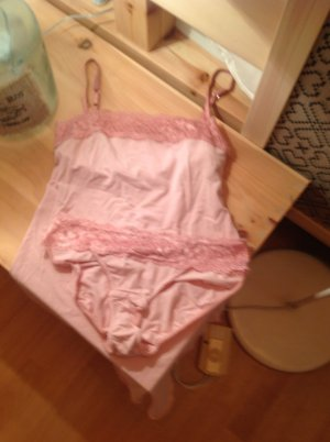 Hochwertiges handgearbeitetes Naturfaser Wäsche - Set in heavenly pink, neu