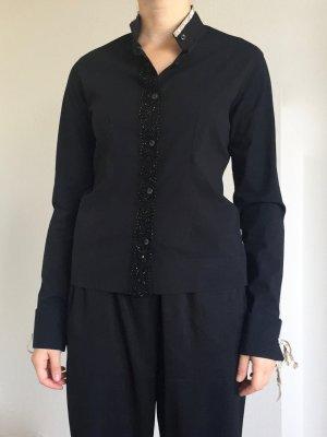 Hochwertiges handgemachtes Hemd von Antonio Marras in schwarz