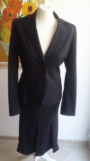 hochwertiges Kostüm, 2 Teile von Esprit Collection, Gr 36-38, Nadelstreifen, Business, Blazer, Rock