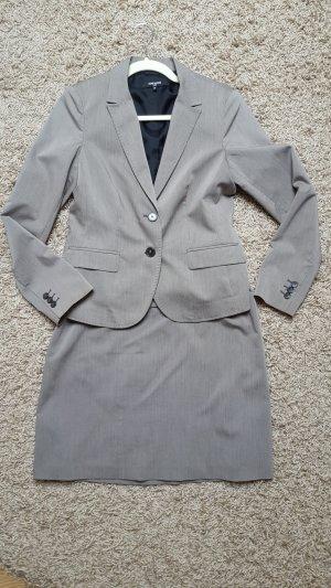 More & More Tailleur chameau-gris brun tissu mixte