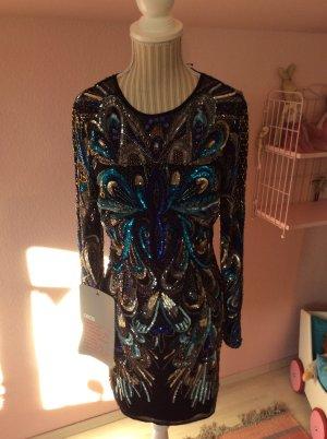 Hochwertiges langärmliges Kleid mit Pailletten