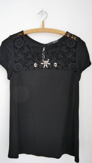 Hochwertiges Shirt mit Spitze und Schmucksteinen # Liu Jo # 36/38 # schöne Details
