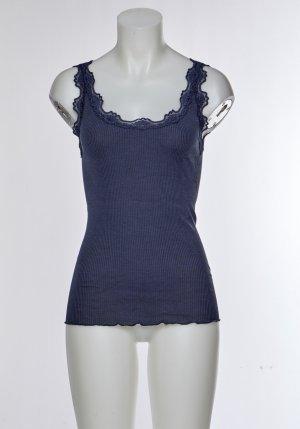 Top di merletto blu scuro