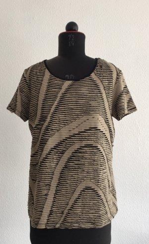 Hochwertiges T-Shirt von Matthew Williamson, Beige/schwarz, Größe S