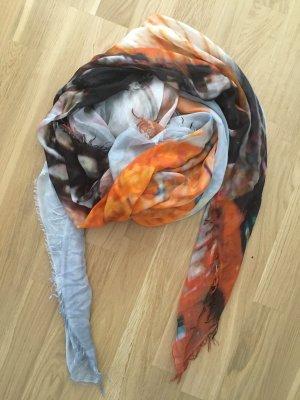 Sciarpa estiva nero-arancione Modal