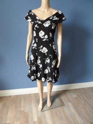 Hochwertiges Vintage Kleid mit Rosen