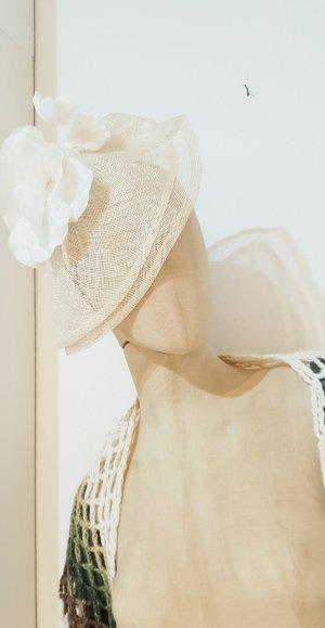 Hochzeit Braut white Party Fascinator Hut festlich winter Weihnachten Geschenk
