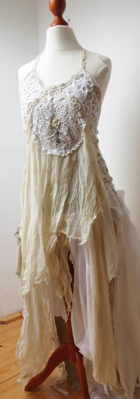 Wedding Dress multicolored cotton