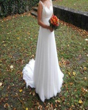 Hochzeitkleid/Brautkleid inkl. Reifrock Größe 34 Modeca