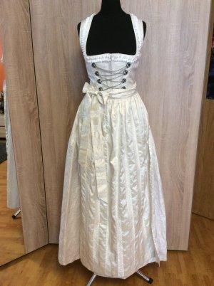 K & K Kaiserjäger Vestido tradicional blanco puro-color plata