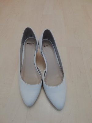 High Heels white leather