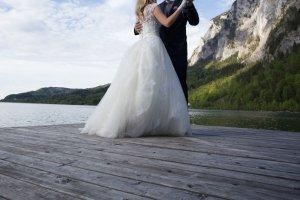 Hochzeitskleid 34-36, ivory, weiß, Tüll, Spitze, Swarovski-Steine