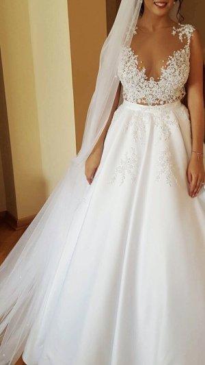 100% Fashion Wedding Dress white