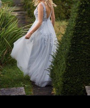 Wedding Dress light grey-pale blue