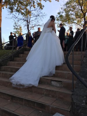 PASSION Corsage Dress white