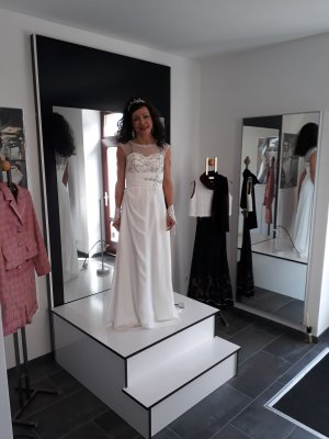 Hochzeitskleid brautkleid 34 Elfenbein wunderschön