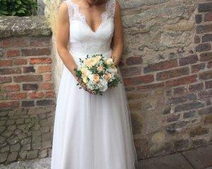Wedding Dress nude-white