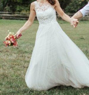 Robe de mariée blanc-crème