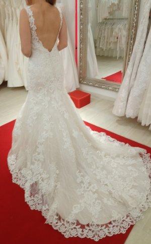 Hochzeitskleid Fit und Flair gr. 38