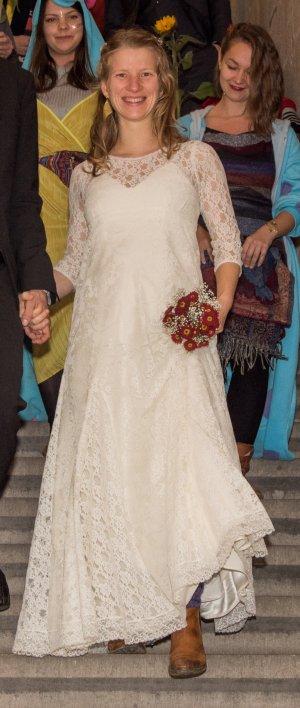 Hochzeitskleid mit hochwertiger Spitze