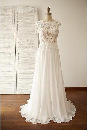 Hochzeitskleid - Schick & Modern Rückenfrei Schleppe