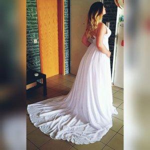 Hochzeitskleid Weiß 38 40