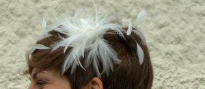 Hochzeitskopfschmuck aus Federn- Haarreif